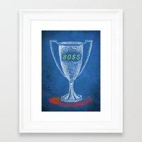 boss Framed Art Prints featuring boss by Miranda J. Friedman