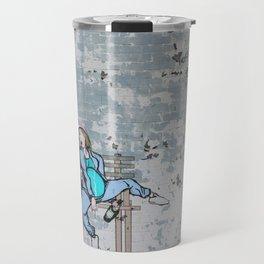 Street Art Knocked London Urban Wall Graffiti Artist Prolifik Travel Mug