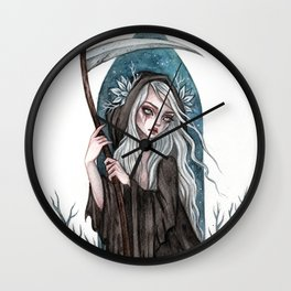 Grim Reaper Wall Clock