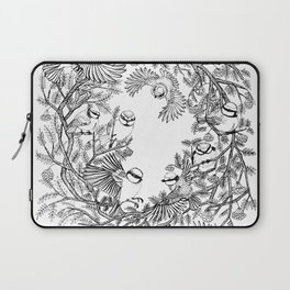 Birds tree botanical pattern Laptop Sleeve