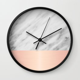 Real Italian Marble and Pink Wall Clock