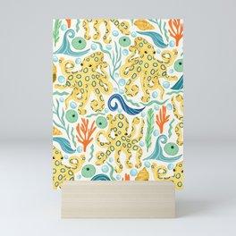 The Realm of Blue-Ringed Octopi  Mini Art Print