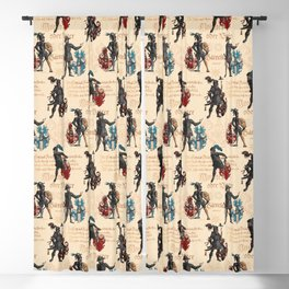 Medieval Knights in Armor with  Coats of Arms Blackout Curtain