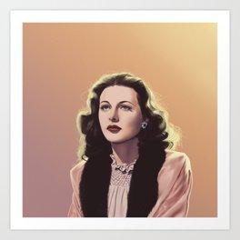 inventor-turned-actress Art Print