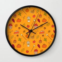 Festively Fall Wall Clock