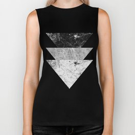 Night marble triangles Biker Tank