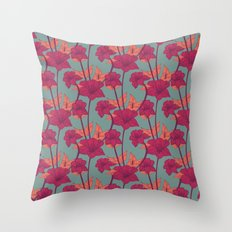 Vintage Blossoms Throw Pillow