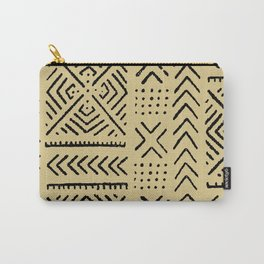 Line Mud Cloth // Tan Carry-All Pouch