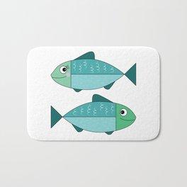 A sweet couple of fish Bath Mat