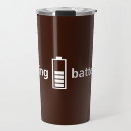 Coffee: charging batteries Travel Mug