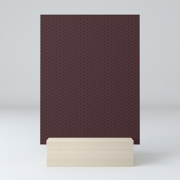 Pantone Red Pear Stitch Scallop, Wave Pattern Mini Art Print