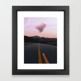Road Red Cloud Framed Art Print