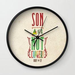 Buddy the Elf! Son of a Nutcracker! Wall Clock