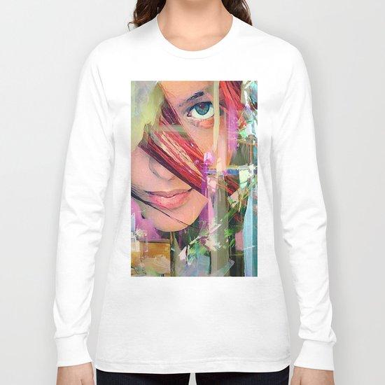 Abstract girl Long Sleeve T-shirt