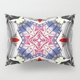 Abstract Americana Collage Pillow Sham