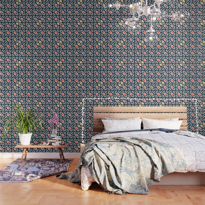 Round Pegs Square Pegs Navy Blue Wallpaper By Silverpegasus Society6