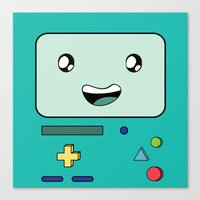 bmo Canvas Prints featuring BMO by Kezarah
