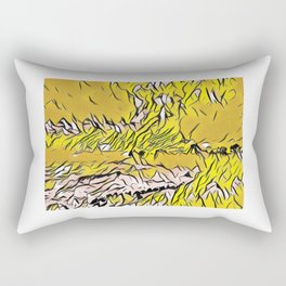 January Sunset On West Cliff Drive, Santa Cruz, Rectangular Pillow