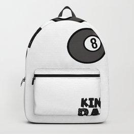 Billiard King of balls black Backpack