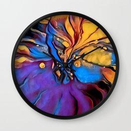 Colorful Cone Flower Digital Manipulation Wall Clock