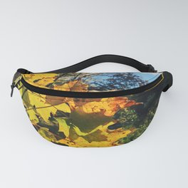Golden leaves at fall Fanny Pack