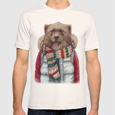 WinterWolverine Natural LARGE Mens Fitted Tee
