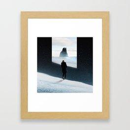 Magical Black Moutain Framed Art Print