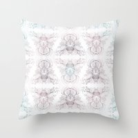 marie antoinette Throw Pillows featuring Marie Antoinette by Frances Louw