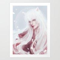inuyasha Art Prints featuring Inuyasha by Pastellish