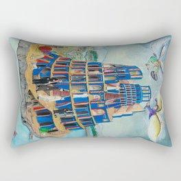 Walking the Tower of Babylon Rectangular Pillow