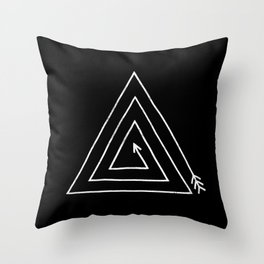 Triangle Arrow Throw Pillow