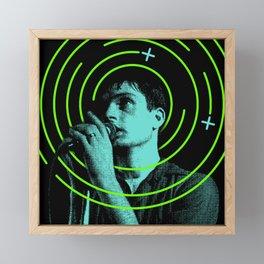 Ian Curtis Framed Mini Art Print