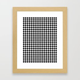 Black and White Diamonds Framed Art Print