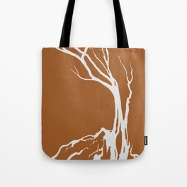 Tree Graphic Orange Winter Trees Tote Bag