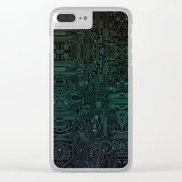 Circuitry Details Clear iPhone Case