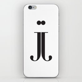 "Mirrored - The Didot ""j"" Project iPhone Skin"