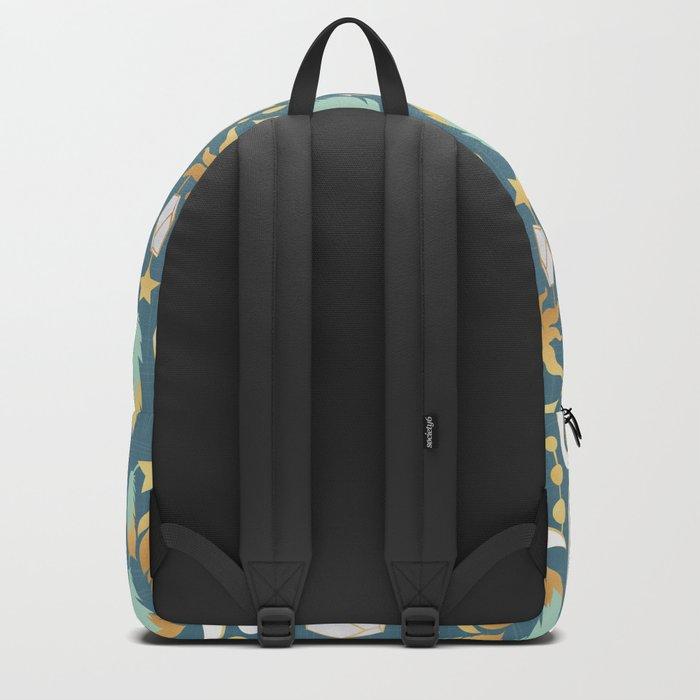 Bohemian spirit // dark turquoise background Backpack