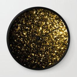 Beautiful Yellow Gold sparkles Wall Clock