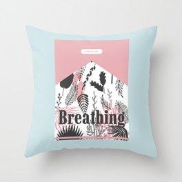 Breathing Throw Pillow