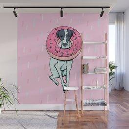 Iggy with a Doughnut - Italian Greyhound - Sweet - Sprinkles Wall Mural