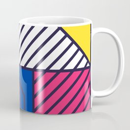 Festive Background in Neo Memphis Style Colorful Decorative pattern Coffee Mug