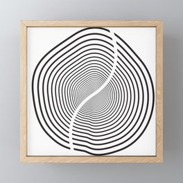 Wood section Framed Mini Art Print