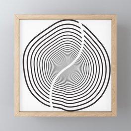 Wood section Framed Mini Art Print