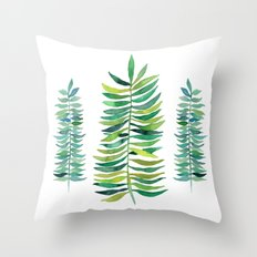 Three Ferns Throw Pillow