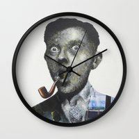 magritte Wall Clocks featuring Magritte by Regina Jean