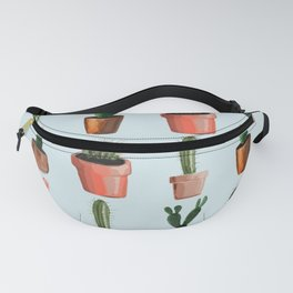 Various Cacti Light Blue Fanny Pack
