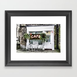 Sid's Cafe, Holmfirth Framed Art Print