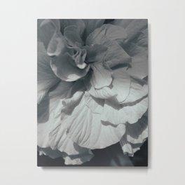 Hibiscus BW Metal Print