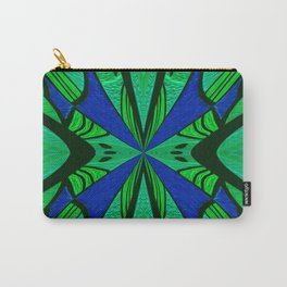 Art Deco Gem Tone Emerald Indigo Boho Mandala Print Carry-All Pouch