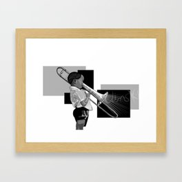 Jazz baby Framed Art Print